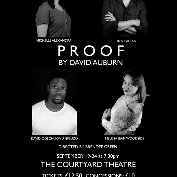 Pulitzer Prize Winning Play PROOF Is Brendee Green's Directorial Debut Which Delves Into Relationships And Emotions.