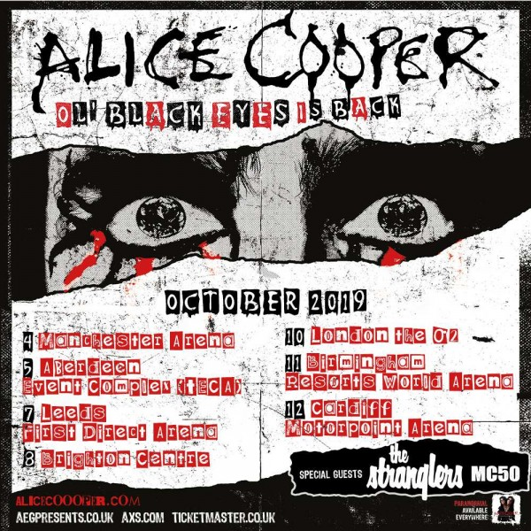 ALICE COOPER 2019 Concert Dates And Venues In London